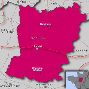 Carte de la Mayenne