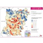 Illustration Variation de la population en Mayenne entre 1999 et 2011