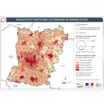 Illustration ODH A1 - Population et densité dans les communes de Mayenne en 2016