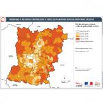 Illustration ODH A3 - Ménages à revenus inférieurs à 100 % du plafond HLM en Mayenne en 2015