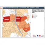Illustration ODH D1 – Ventes d'appartements à Laval entre 2011 et 2015